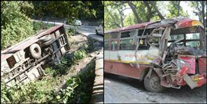 dehradun: Thirty passengers injured due to collision between two bus