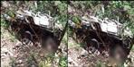 Max car fell in a ditch in Pauri Garhwal
