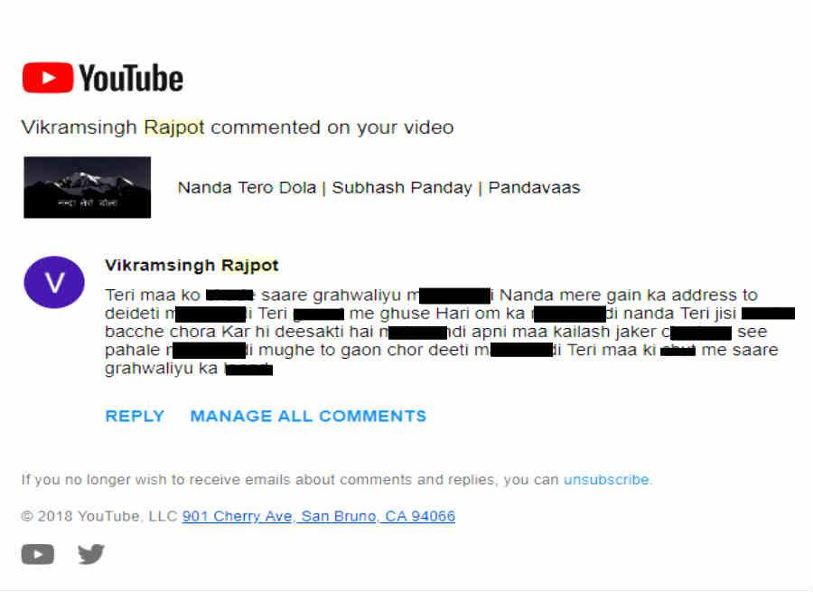 Pandavas Video targeted by Random guy Insulting nanda devi