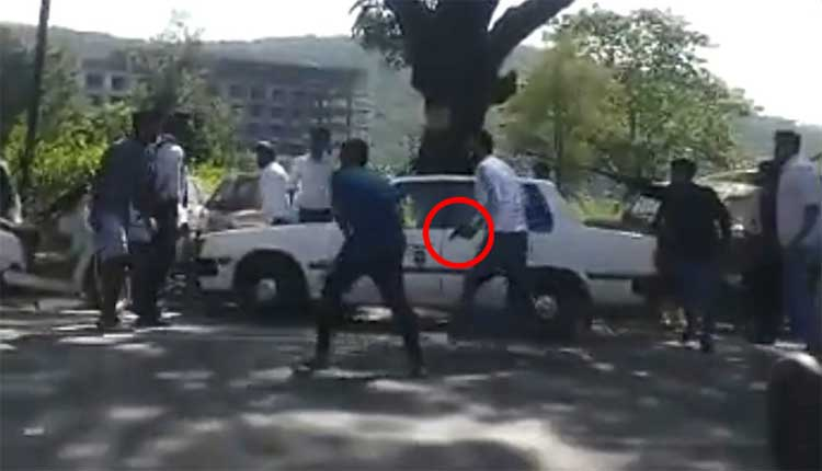 Viral video of dehradun students fight in road