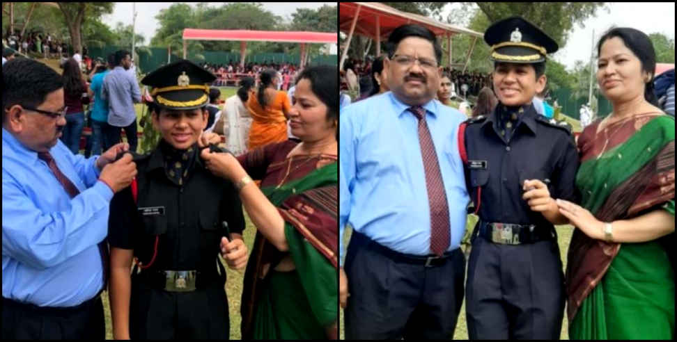 Image: yashika nayal from pauri garhwal commissioned in Indian army